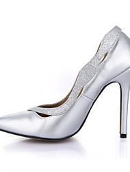 Mujer-Tacón Stiletto-Confort-Tacones-Boda Vestido Fiesta y Noche-PU-Plata