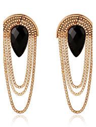 Øreringe sæt Euro-Amerikansk Dråbe Guld Smykker For Bryllup Fest Speciel Lejlighed Fødselsdag Forlovelse Daglig 1 par