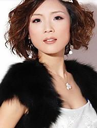 economico -senza maniche in pelliccia ecologica pelliccia casual avvolge i capelettoni dallo stile femminile classico