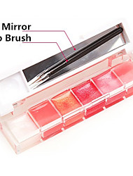 6-color Pink Lip Gloss (Assorted 2 color)