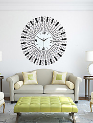 cheap -Modern/Contemporary Glass Iron Round Indoor,Wall Clock
