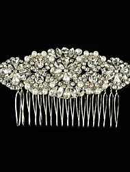 cheap -Gemstone & Crystal / Tulle / Alloy Hair Combs / Headpiece with Crystal / Feather 1 Wedding / Special Occasion / Party / Evening Headpiece