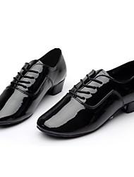 Недорогие -Для мужчин Латина Бальные танцы Кожа Оксфорды Тренировочные Для начинающих Профессиональный стиль Для закрытой площадки На шнуровке На