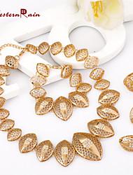 cheap -Women's Jewelry Set Jewelry Set - 18K Gold Plated Gold