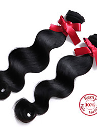 "cheap -EVET Malaysian Body Wave Virgin Hair Weaves Bundles Malaysian Human Hair Extensions Natural Color 2pc/lot 8""-26"""