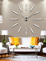 cheap -New Modern Design High Quality Silent 3D DIY Wall Clock 12S012