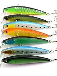 """7 Stück kleiner Fisch Angelköder kleiner Fisch g/Unze mm/4-1/3"""" Zoll,Fester Kunststoff Seefischerei Fischen im Süßwasser Spinnfischen"""