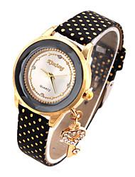 Femme Montre Tendance Montre Bracelet Montre Diamant Simulation Quartz Imitation de diamant Vrai Cuir BandeDessin-Animé Pour tous les