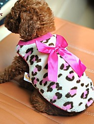 cheap -Cat Dog Shirt / T-Shirt Dog Clothes Bowknot Red Pink Polar Fleece Costume For Pets Men's Women's Casual/Daily