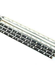 Недорогие -0.3м Гибкие светодиодные ленты 12LED светодиоды Белый / Красный / Синий Водонепроницаемый 12 V / IP44