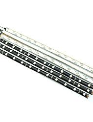 0.3m 12LED bianco / rosso / blu / giallo flessibile strisce luminose a led DC12 v