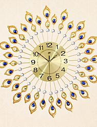 cheap -Modern Style Fashion Creative Tuba Diamond with Iron Mute Wall Clock
