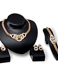 Žene Komplet nakita Moda Vjenčanje Party Dnevno Prstenje 1 Ogrlica 1 par naušnica 1 narukvica