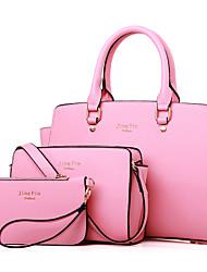 Women Bags All Seasons PU Shoulder Bag Zipper for Event/Party Blue Black Blushing Pink Purple Fuchsia