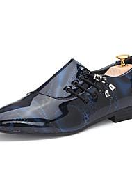 Masculino sapatos Courino Primavera Verão Outono Inverno Conforto Inovador Oxfords Cadarço Para Casual Festas & Noite Branco Preto Roxo