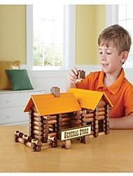 Недорогие -165 шт небольшой деревянный творческий строительные