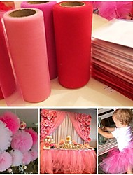 cheap -Tulle Roll Spool 6inchx25yd Tutu DIY Wedding Gift Bow Desk Dress & Flower Ball& Chair Sash