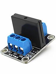 1-CH 5V 240V 2A SSR Solid-State Relay High Level Trigger Module - Black + Blue