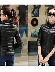 cheap -Women's Hiking Down Jacket Outdoor Winter Thermal / Warm Breathable Winter Jacket Top Full Length Visible Zipper Single Slider Camping /