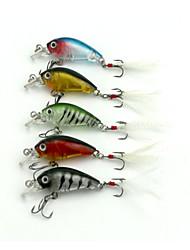 "abordables -5 pcs Manivela Cebos Manivela Colores Surtidos g/Onza mm/1-3/4"" pulgada,Plástico duro Pesca de Mar Pesca de agua dulce Pesca de Perca"