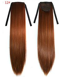 baratos -Reto Sintético Pedaço de cabelo Alongamento 18 polegadas # 12