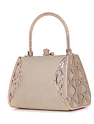 Women Bags Metal Evening Bag Crystal/ Rhinestone for Wedding Golden