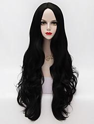 cheap -80cm Long Loose Wavy Black Hair Synthetic Women Party Elegant Wig