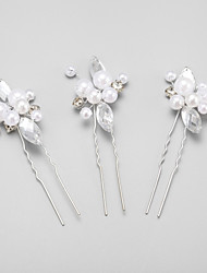 Imitation Pearl Rhinestone Alloy Hair Pin Headpiece