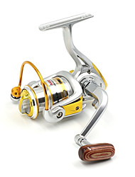 1000 Size Silver 5.2:1 10+1 Ball Bearings Freshwater Fishing Carp Fishing Spinning Reels Left and Right Handle