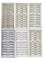cheap -60Pairs Natural Long Thick Black False Eyelash Eyelashes Extensions Handmade Individual Lashes Makeup Eyelashes