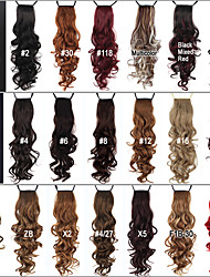 cheap -Excellent Quality Synthetic 24 Inch Long Curly Clip In Ribbon Ponytail Hairpiece - 20 Colors Available