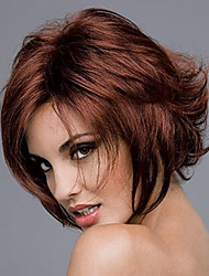 cheap -Europe And The United States  Sell Like Hot Cakes  Wine Red Become Warped Short Wig