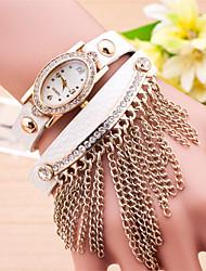 cheap -Women's Bracelet Watch Hot Sale Leather Band Charm / Fashion Black / White / Blue