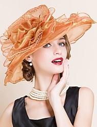 Недорогие -Для женщин Для женщин Для вечеринки Широкополая шляпа , Сетка , Лето