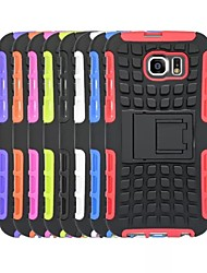 cheap -Case For Samsung Galaxy Samsung Galaxy Case Shockproof Back Cover Armor PC for S6 edge / S6 / S5