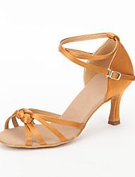 Scarpe da ballo - Non personalizzabile - Donna - Sala da ballo / Latinoamericano / Salsa - Stiletto - Satin - Nero / Marrone / Rosso