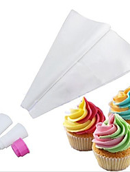 Two-toned Double Color Icing Piping Bag Frosting Cupcake Cake Decorating Tools (Random Color)