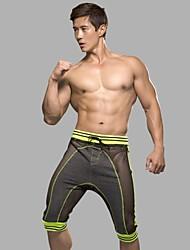 billige Undertøy og sokker til herrer-Herre Mesh Super Sexy Boxer Stripet 1 Deler