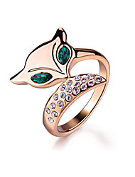 Ringe Imitation Emerald Mode Party Smykker Legering Dame Statement Ringe 1pc,En størrelse Rose Guld