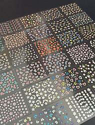 Недорогие -30 pcs 3D наклейки на ногти маникюр Маникюр педикюр Цветы / Абстракция / Мода Повседневные / 3D-стикеры для ногтей