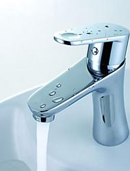 billige -moderne centresæt keramisk ventil et hul krom badhaner