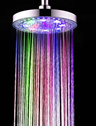 Contemporary Rain Shower Chrome Feature for  LED / Rainfall / Eco-friendly , Shower Head
