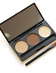 Недорогие -3 цвета Продукты для бровей Пудры Кисти для макияжа Другое Глаза Составить косметический