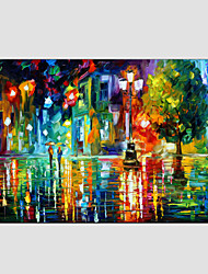 cheap -Oil Painting Hand Painted - Landscape Modern / European Style Canvas / Stretched Canvas