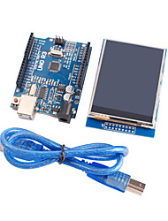 Improved Version UNO R3 ATMEGA328P Board Module + 2.8 Inch  TFT LCD Touch Shield Display Module for Arduino