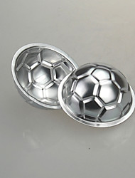 cheap -Football Soccer Cake Mold Baking Jelly DIY Non-toxic Chocolate Pan Aluminum Birthday Cake Mould