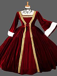 cheap -Gothic Lolita Dress Steampunk® Victorian Lace Women's Dress Cosplay Long Sleeve Long Length Halloween Costumes