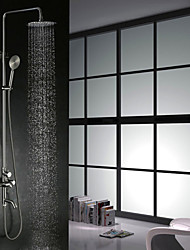 cheap -Shower Faucet - Contemporary Nickel Brushed Shower System Ceramic Valve