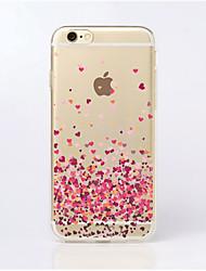 maycari®paved com amor transparente TPU volta caso para iphone 5 5s / iphone