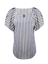 cheap -Casual Blouse - Striped, Layered